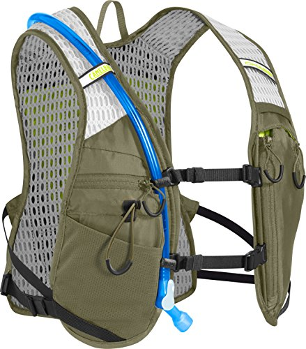 CAMELBAK Chase Bike Vest 50 oz Trinkweste, Burnt Olive/Lime Punch