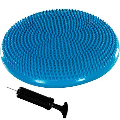Movit Ballsitzkissen Dynamic SEAT inkl. Pumpe, Durchmesser 33cm, blau, schadstoffgeprüft, Luftkissen Noppenkissen Balance Kissen