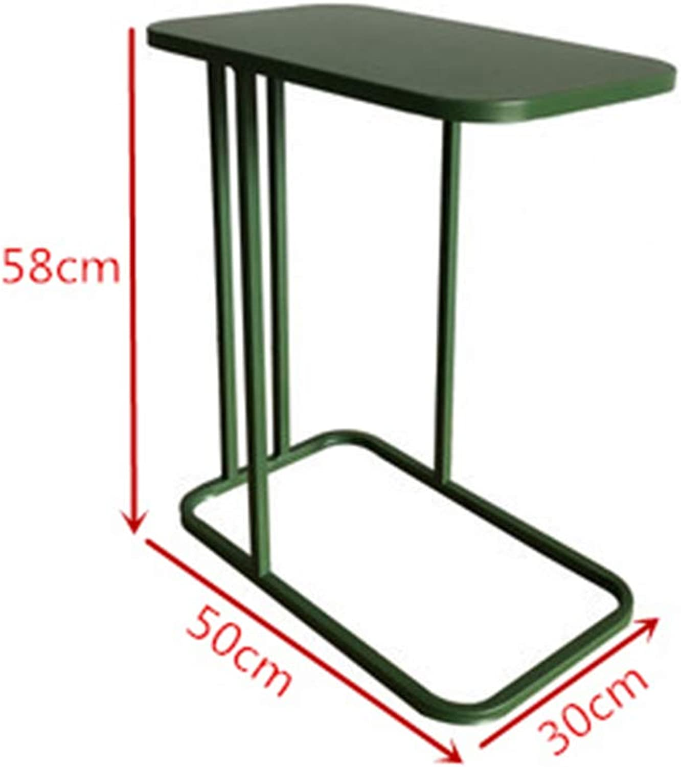 YNN Simple Wrought Iron Small Coffee Table Modern Marble Living Room Sofa Side Bedroom Bedside Table (color   Green)