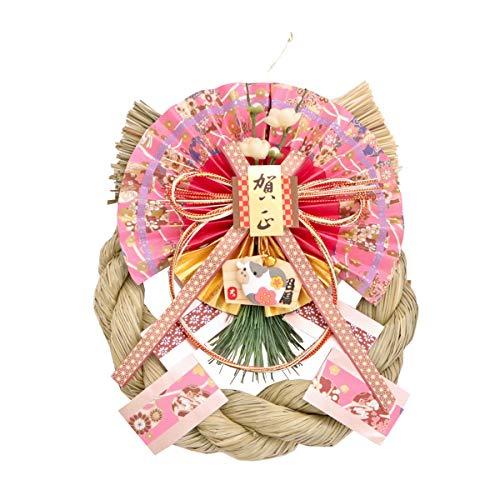 山一商店 お正月飾り 干支リース 撫子 ウシ K-3602 33×20×8cm
