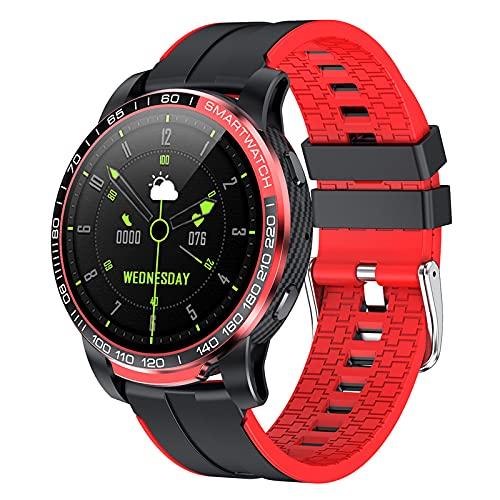 Rvlaugoaa Bluetooth 5.0 Llamada Reloj Inteligente Rastreador De Ejercicios PodóMetro Hombres Deportes Pulsera Recordatorio De Mensaje Reloj Inteligente A Prueba De Agua para TeléFonos iPhone/Android