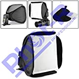Phot-R Profesional 23 cm Photo Studio Mini Universal Easy Fold portátil Flash Softbox Difusor para Flashes + Funda de Transporte