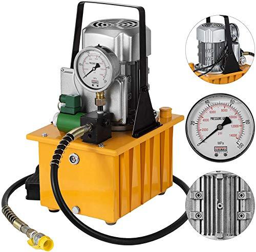 YUYAO 10152 PSI Bomba hidráulica eléctrica 750W 220V Simple Efecto solenoide Pedal...