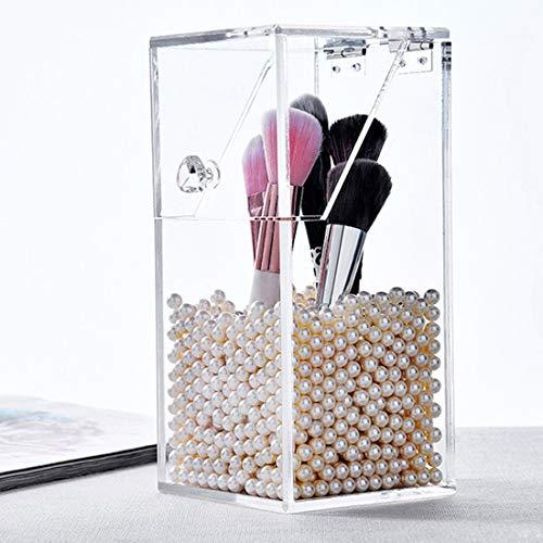 Formulauff 1000pcs Acrylique beauté Brosse Couvercle de Stockage Transparent boîte de Rangement cosmétique cosmétique Brosse Pinceau Seau Brosse Pinceau Maquillage Organisateur - Transparent
