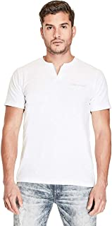 GUESS Factory Men's Conrad Layered Slit-Neck Short Sleeve Tee