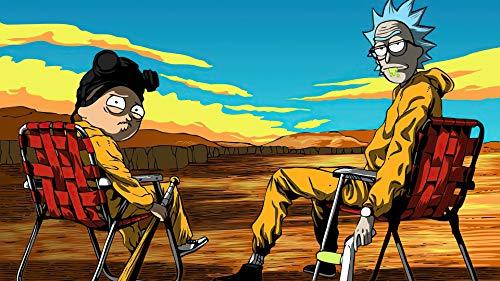 B&F Póster Lavable XXL Rick y Morty, 61,5x91 Cm