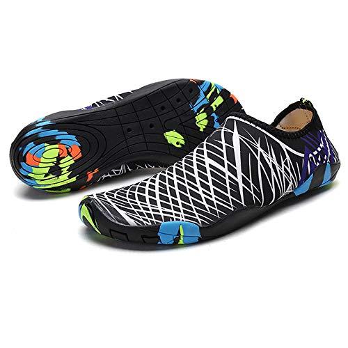 HOTROAD Zapatos de Agua Ligeros Descalzos Sandalias de Playa sin Cordones para Mujeres, Hombres y niños River Camping Travel Deportes Running Surf Shoes-204-Blanco 39