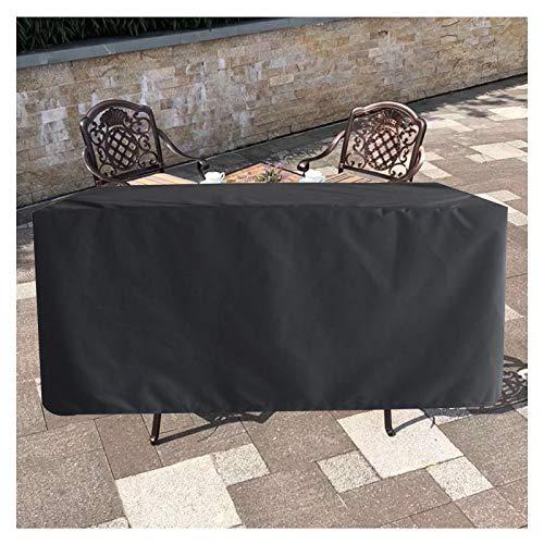 LITINGFC-Funda Muebles Jardin,Cubiertas De Mesa para Patio Al Aire Libre Tela Oxford 20D Impermeable A Prueba De Viento Anti-UV (Color : Black, Size : 325x208x58cm)