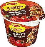 Maggi 5 Minuten Terrine Spaghetti Bolognese, leckeres Fertiggericht, Instant-Nudeln, mit Hackfleisch, 1er Pack (1 x 60g)
