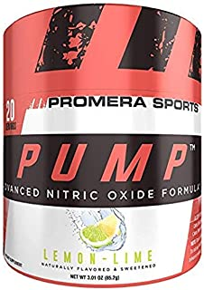 ProMera Sports Pump, Lemon Lime, 20 Servings, Advanced Nitric Oxide Booster & Pump Amplifier with L-Citrulline HCl for Mus...
