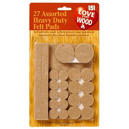 54 Assorted Heavy Duty Felt Pads/2 packs of 27 by love your wood