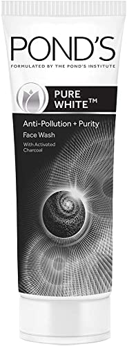 Pond's Pure White Anti Pollution With Activated Charcoal Facewash, 100g product image