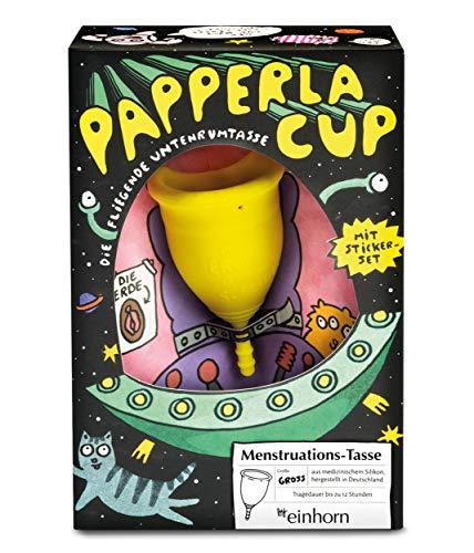 Papperlacup Menstruationstasse by einhorn - medizinisches Silikon, nachhaltig, made in Germany...