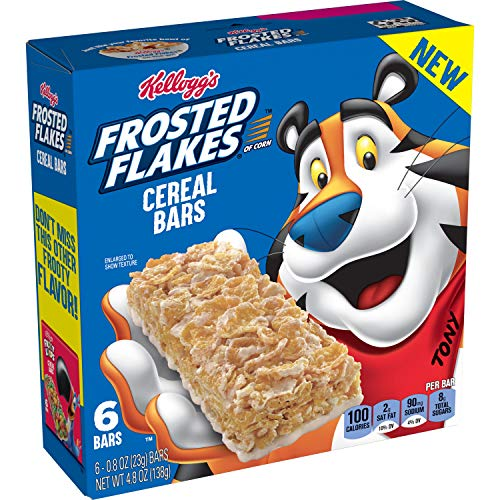Kellogg's Frosted Flakes Cereal Bars, Original, On The Go Snack Food, 4.8oz Box (Pack of 8, 48 bars total)
