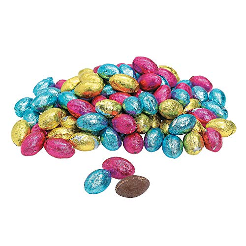 Foil Wrapped Chocolate Easter Eggs (90 individually wrapped candy) Bulk Easter Candy great for baskets