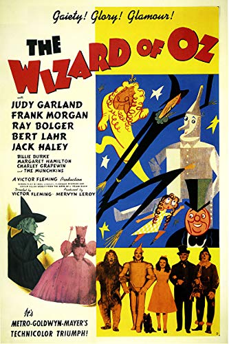 American Gift Services - Wizard of Oz Vintage Judy Garland Movie Poster 2-24x36