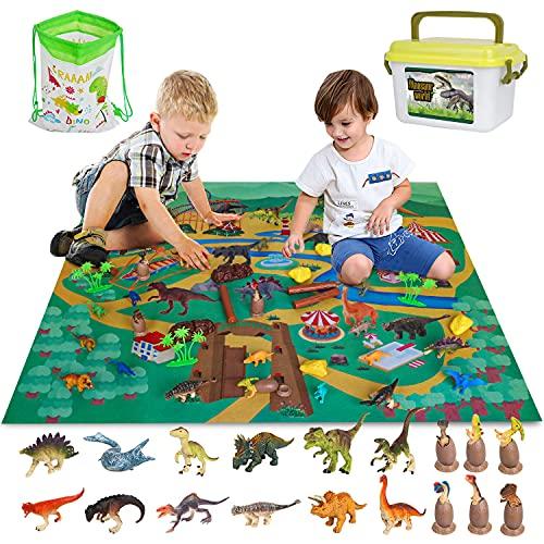 Vanplay Juguetes Dinosaurios Huevos de Dinosaurio con Tapete de Juego y Caja de Almacenamiento para...
