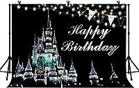新しい7x5ftお誕生日おめでとう写真の背景子供子供の誕生日パーティー漫画の城の背景ベビーシャワーの装飾バナー写真スタジオ小道具107