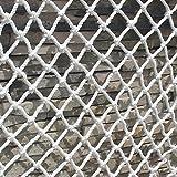 ZWYSL Red Protectora para Niños Red de Cuerda Pet Gate Red de Cuerda Oscilante de Decoración Pared Al Aire Libre para Escalada,Cama de Camión Red de Carga Jardín Decoración Pared