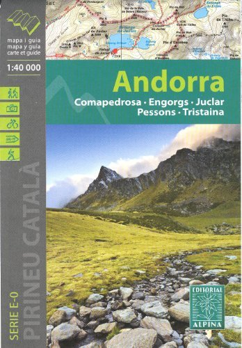 Andorra (Pyrenees) 1:40,000 Hiking Map ALPINA
