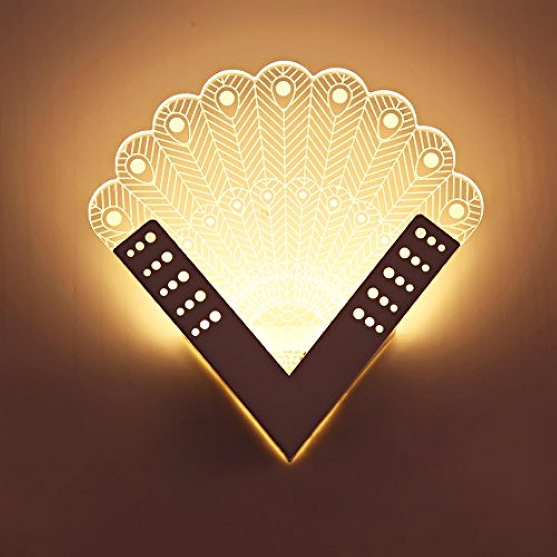 HNZZN Moderne LED Wandleuchte Acryl Badezimmer Schlafzimmer Wandleuchte Kreative Innenbeleuchtung AC85-265V LED Flur Nachttischlampe, WY7151
