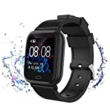 Smart Watch for Android iOS Phones, Fitness Tracker with Heart Rate & Blood Pressure & Sleep Monitor, Waterproof Activity Tracker with Pedometer & Calorie Counter for Men Women Kids
