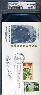 Harlon Hill Signed Knute Rockne Fdc Autograph - PSA/DNA Certified - NFL Cut Signatures