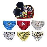 Disney Mickey Mouse Calzoncillos para Niños, Pack Múltiple de 6 Calzoncillos, 100%...