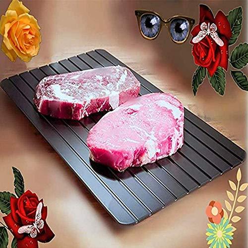 SBDLXY Auftautablett, Auftautafel zum schnelleren Auftauen von Tiefkühlkost, Auftauteller mit Loch zum einfachen Aufhängen, schnellere und sicherere Methode zum Auftauen von Fleisch Schweinefl