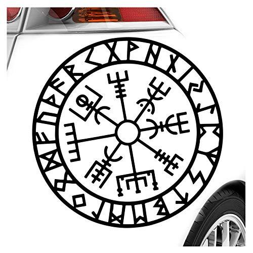 Kiwistar Wikingerkompass Runen Aufkleber Sticker 25 Farben Neon Matt
