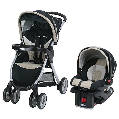 Graco Fastaction Fold Click Connect Travel System with Snugride 30 Lx - Seck30Lx Weave