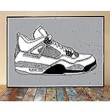 Letmedrawyourpicture Air Jordan 4 White Cement Art Print