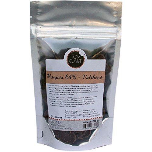Top cake - Fèves chocolat noir Valrhona Manjari 64% 500g - TopCake