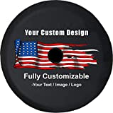 American Unlimited Custom JL Spare Tire Cover You Design Full Color Personalized JL Tire Cover with Backup Camera Hole (Universal Fit for SUV JL Accessories 2018+) Size 32 Inch