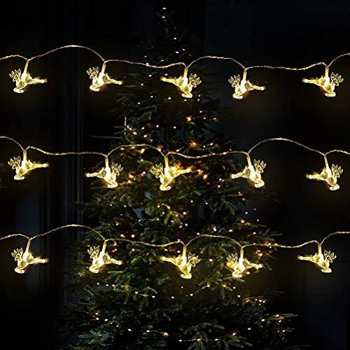 Bonbela Elk String Lights 3Meter 20LED Decorative LED Fairy Lights for Bedrooms Garden Home Party New Year Wedding