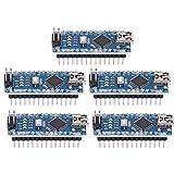 5 unids/Set Nano V3.0 ATmega328P Módulo de Placa de microcontrolador 5V 16M para Arduno