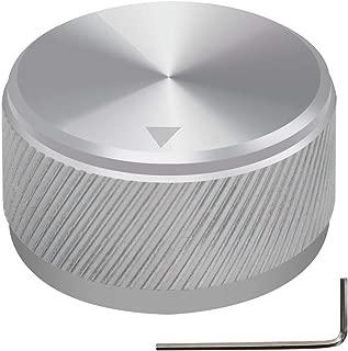 mxuteuk Silver Aluminum Alloy Potentiometer Control Knob Volume Audio Electric Guitar Bass Screw Type 30 x 17mm (dh) KNOB-06-30SR