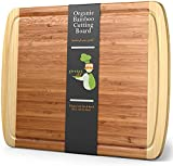 Extra Large Bamboo Cutting Board - XL Wood Cutting Board - 18 x 12.5' - Chopping Board for Meat and Vegetables - Extra Large Cutting Board Wood - Wooden Cutting Boards for Kitchen