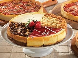 1 Eli's Sampler Cheesecake & 3 Lou Malnati's Chicago-Style Deep Dish Pizzas (1 Sampler 1 Cheese 1 Sausage 1 Pepperoni)