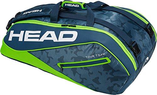 HEAD Tour Team 9R Supercombi Tennisschläger Tasche, Unisex, Tour Team 9R Supercombi, Marineblau/grün