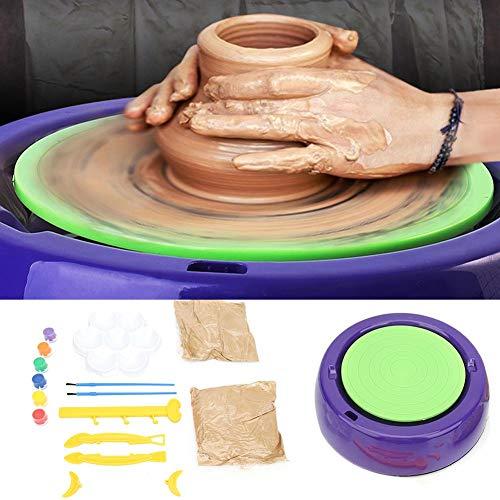 Filfeel 【𝐅𝐫𝐮𝐡𝐥𝐢𝐧𝐠 𝐕𝐞𝐫𝐤𝐚𝐮𝐟 𝐆𝐞𝐬𝐜𝐡𝐞𝐧𝐤】 Töpferscheibe Formmaschine, elektrische Kinder DIY Kunsthandwerk Keramik Töpferscheiben Ton Töpferscheibe Maschine