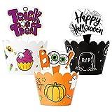 Envoltorios para cupcakes de Halloween, decoración para fiestas de disfraces o dulces