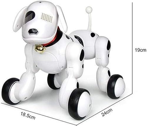 SJHFDICKJFIF Smart Roboter Hund,Kinderspielzeug Elektronischer Haustier Intelligente Programmierung,Tanzt Musik Reagiert Auf Berührungen roten Dog,Geburtstagsgeschenk Für Kinder,Weiß
