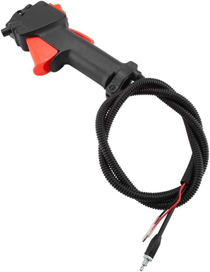 Mango de bicicleta de control de acelerador de 26 mm, interruptor de mango de recortador de strimber gatillo de acelerador cable cepillo cortador accesorios herramientas