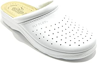 Fly Flot Chaussons Homme Fabrique en Italie Blanc Blanches Chausson 82028 BE (Blanc