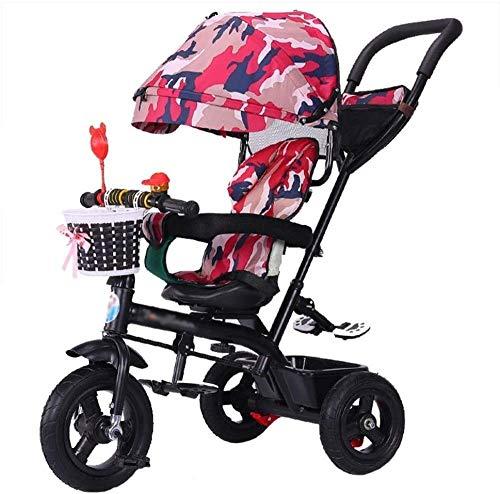 Pushchairs Baby Carriage kinderwagen Trike Bike Baby Trolley met remmen en demonteerbare luifel opvouwbare kinderen driewieler 6 maanden - 6 jaar oude baby producten