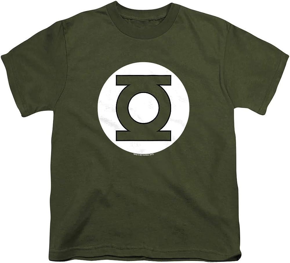 DC Green Lantern Logo Unisex Youth T Shirt, Military Green, Large