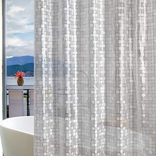 Bostofy 8 Gauge Heavy Duty Shower Curtain Liner,Waterproof EVA Shower Liner for Bathroom/Bathtubs, Rust Resistant Metal Grommets, 3 Magnets, 72 x 72 Inches