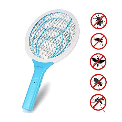 seenlast Raqueta Mosca Antimosquitos, Matamoscas Eléctrico Zapper Mata Mosquito, 3000 Voltios Plagas Insectos Asesino Repelente para Interior en Aire Libre