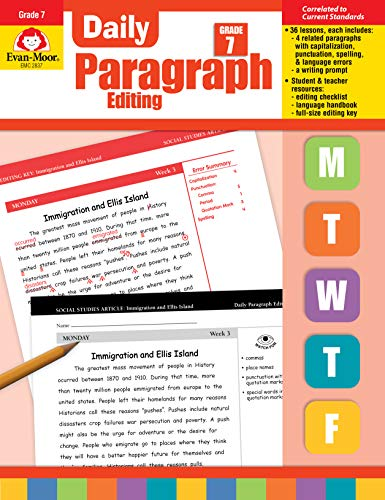 Compare Textbook Prices for Evan-Moor Daily Paragraph Editing, Grade 7 Teacher ed. Edition ISBN 9781609638320 by Evan Moor